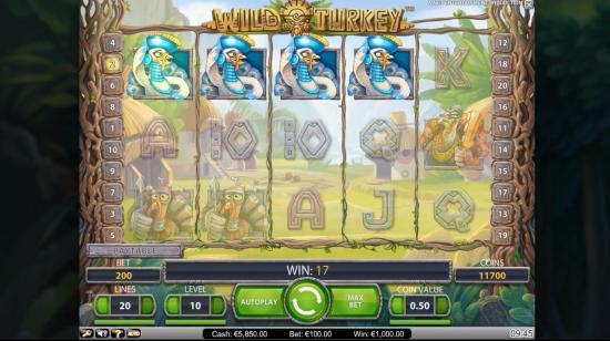 NetEnt lanserer en ny video-spilleautomat: Wild Turkey