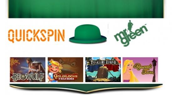 Mr. Green sitt partnerskap med Quickspin