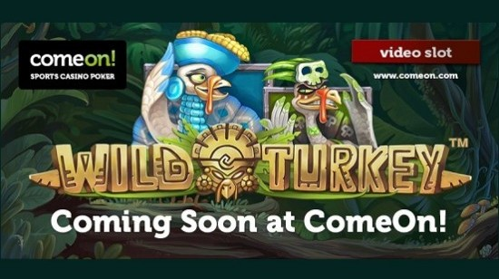 Gratis spinn på Wild Turkey hos ComeOn