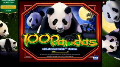 100 Pandas tar av hos Mr Green
