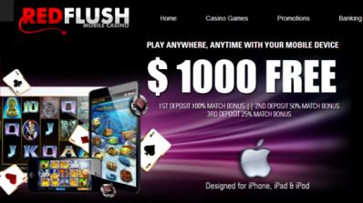 Progressive jackpoter for iPad-brukere hos Red Flush