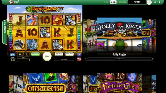 Spill flere spill samtidig hos PAFs Casino Matrix