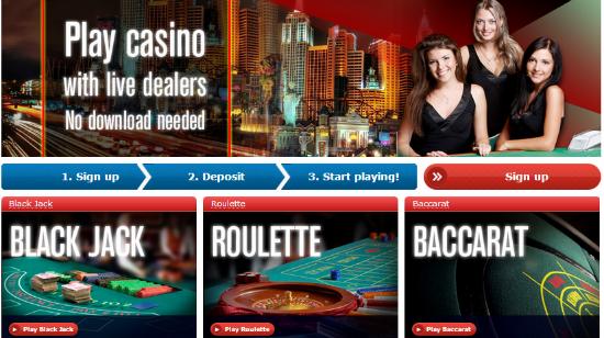 Eksklusivt live casino lansert hos Redbet