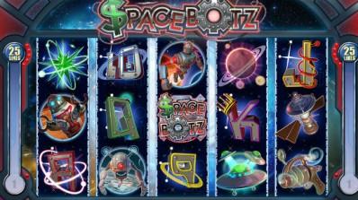 Videospilleautomaten SpaceBotz fra Genesis Gaming