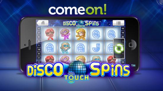 5 gratis spinn på Disco Spins for mobil