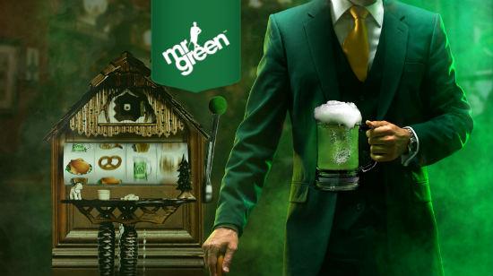960 gratis spinn på Mr Greens Greentober Fest
