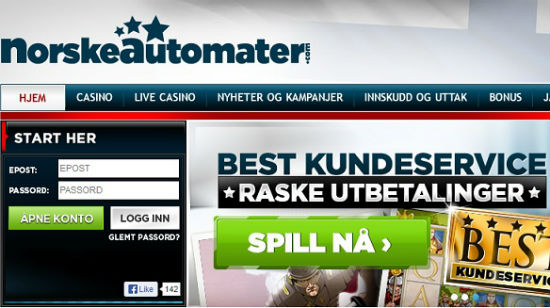Nyhet om NorskeAutomater.com