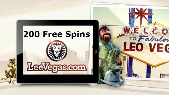 Få firedobbel velkomstbonus på Leo Vegas