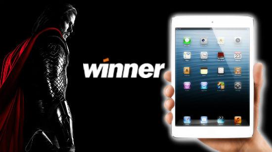 Cashback-helg og iPad-trekning på Winner
