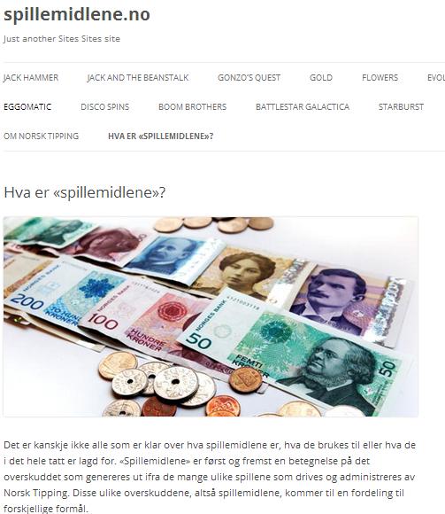 norsk tipping nettside Mosjøen