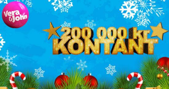 Vera&John lyser opp desembernettene ved å dele ut 200 000 kr