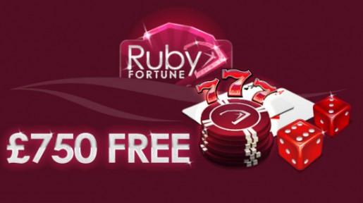 Ta deg en €750 gratistur hos Ruby Fortune