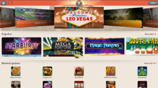 Over 100 måter å vinne på hos LeoVegas Mobile