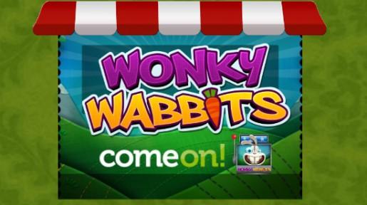 100 gratis spinn til Wonky Wabbits hos ComeOn!
