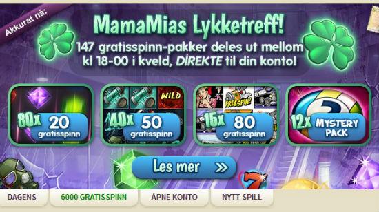 MamaMia Bingo deler ut 6000 gratis spinn – bare i kveld