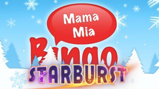 Få opptil 100 gratis spinn på Starburst hos MamaMia Bingo!