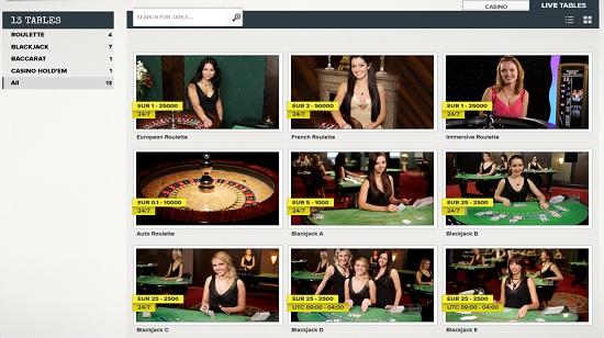 SuperLenny Live Casino