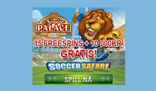 Fotballsspillet Soccer Safari hos Spin Palace