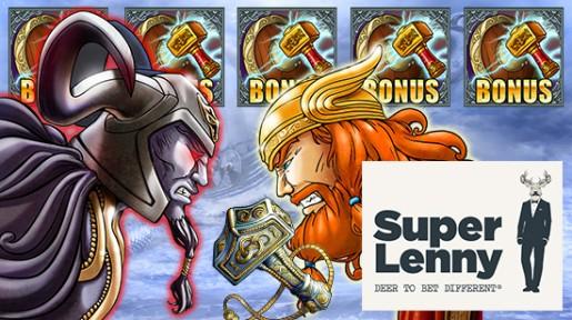Store velkomsttilbud og store jackpotter hos SuperLenny!