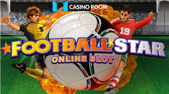 Få NOK 5000 og 100 gratis spinn hos Casino Room, og prøv et spinn på Football Star!