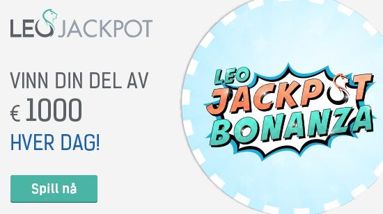 Vinn din del av € 1000 hver dag hos LeoJackpot