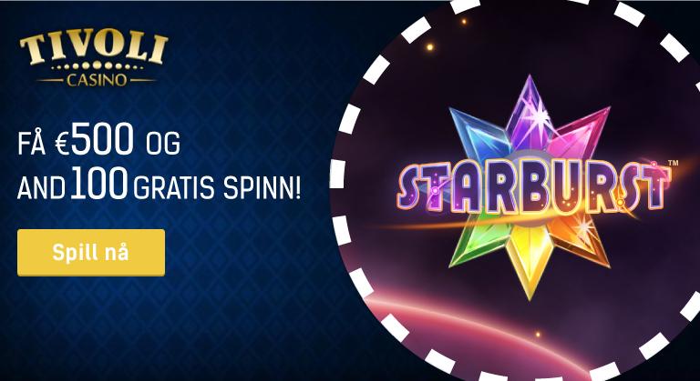 Besøk Tivoli Casino å få store bonuser og vinne store premier