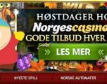 Pågående høstfest hos NorgesCasino.com