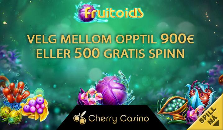 Velg din velkomstbonus! Opptil 900€ eller 500 gratis spinn på Cherry Casino