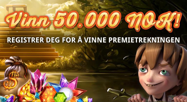 Registrer deg og vinn 50 000 kroner med Casino Magasinet!