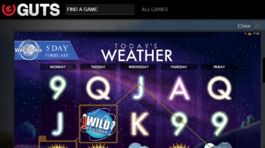 Spill Today's Weather hver dag på Guts