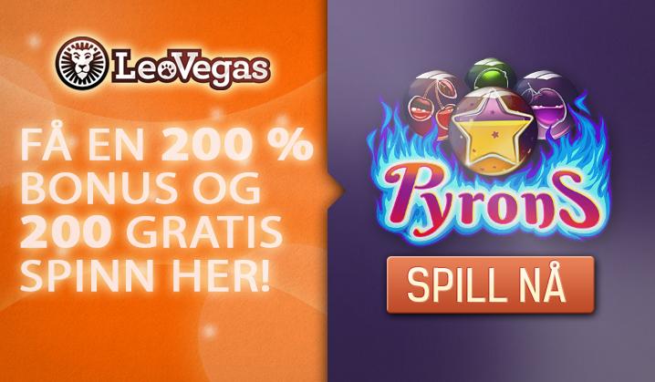 Nye spill og flotte bonuser hos LeoVegas!