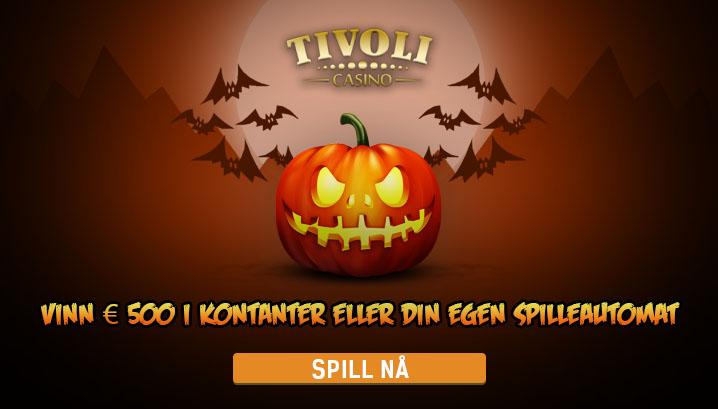 Vinn € 500 i kontanter eller din egen spilleautomat hos Tivoli i oktober