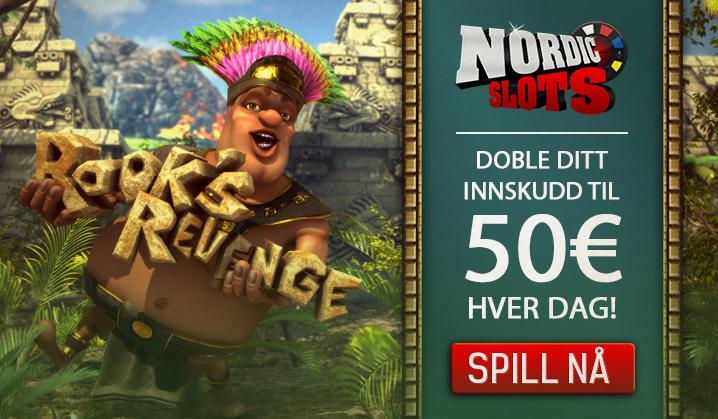 Få en 100% påfyllsbonus hver dag på NordicSlots
