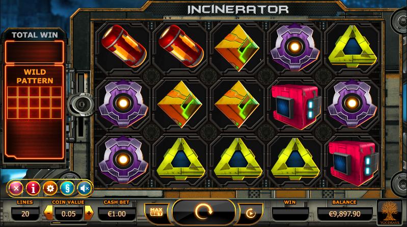 Sjekk ut nye Incinerator spilleautomat hos Thrills